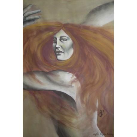 danse d'une femme rousse
